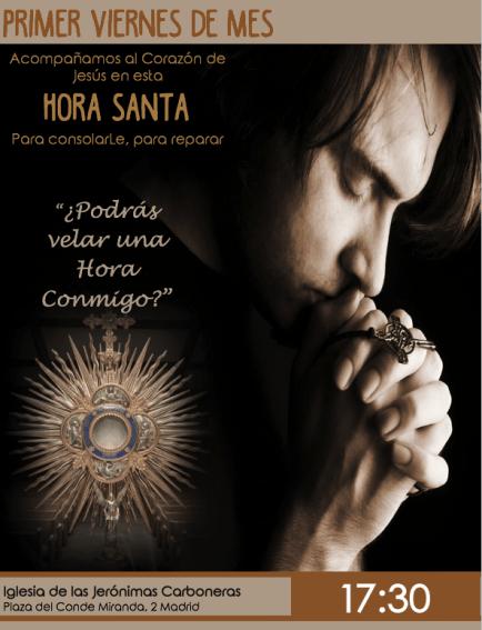 La VDCJ organiza horas santas en Madrid